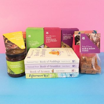 Redeem a National Trust prize bundle or a copy of The National Trust Book of Puddings