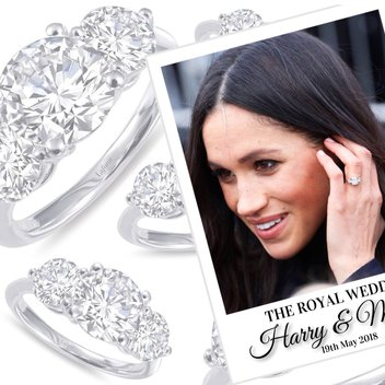 Win the Sterling Silver Three Stone Cluster Ring from Lafonn
