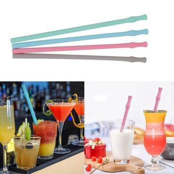 Reusable Silicone Drinking Straw samples to be claimed