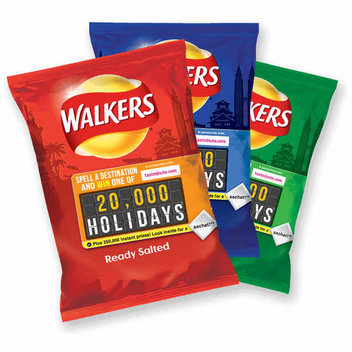Freebies and prizes from Walkers Spell & Go