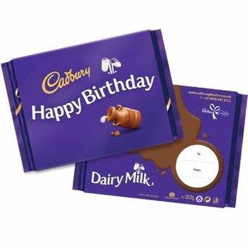 Win 1 of 10 Cadbury Dairy Milk 'Happy Birthday' bars