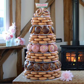Celebrate your wedding with a free Krispy Kreme doughnut tower