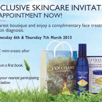FREE Face Treatment and a Personal Skin Diagnosis