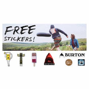 Free BURTON stickers