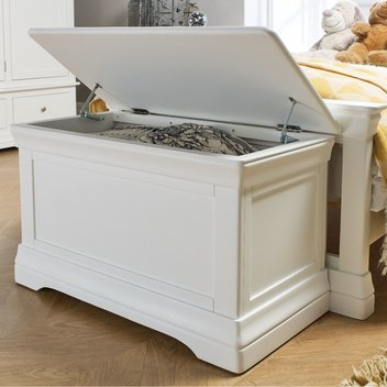 Get a free Toulouse Large White Painted Blanket Box