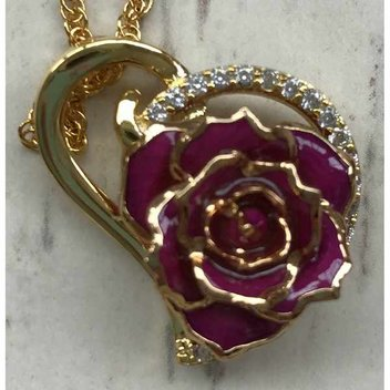 Win a Glazed Rose Heart Pendant from The Eternity Rose