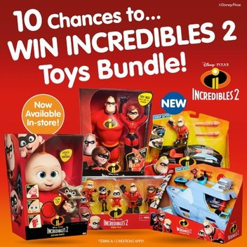 Get an Incredibles 2 toy bundle