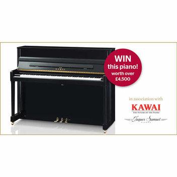 Win a Kawai piano worth over £4,500