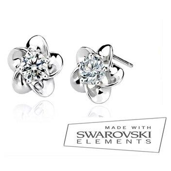 Free Crystal Flowers earrings