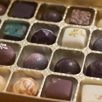 Enjoy a delicious chocolate selection box