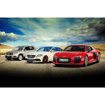 Win an Audi R8, Mercedes-AMG C63 and a VW Tiguan