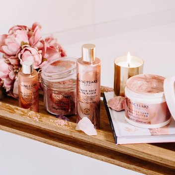 Redeem a free Rose Gold Radiance collection