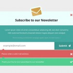 Newsletter Subscription Form PSD Mockup
