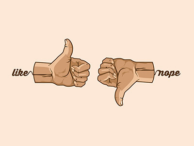 Thumbs Up and Down Illustration