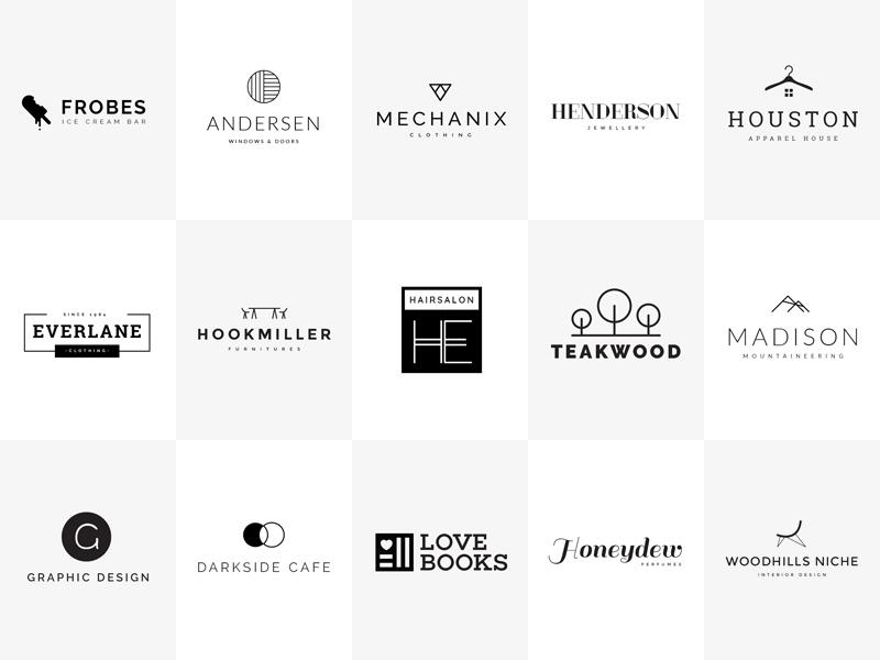 15 minimal logo templates  free psd