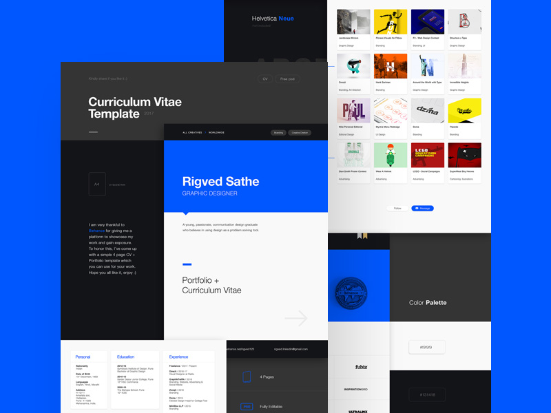 2017 cv template 2017 by behance psd freebie supply 2017 cv template 2017 by behance psd pronofoot35fo Images