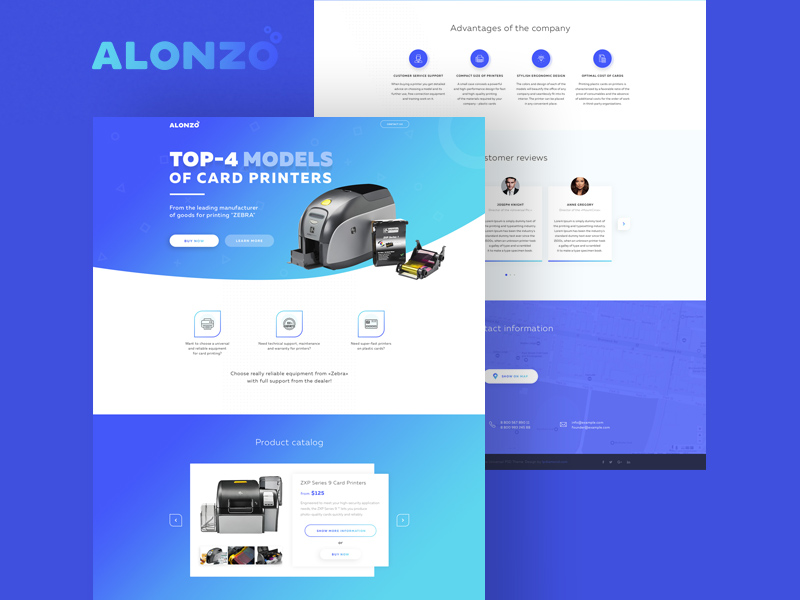 alonzo landing page template free psd freebie supply. Black Bedroom Furniture Sets. Home Design Ideas