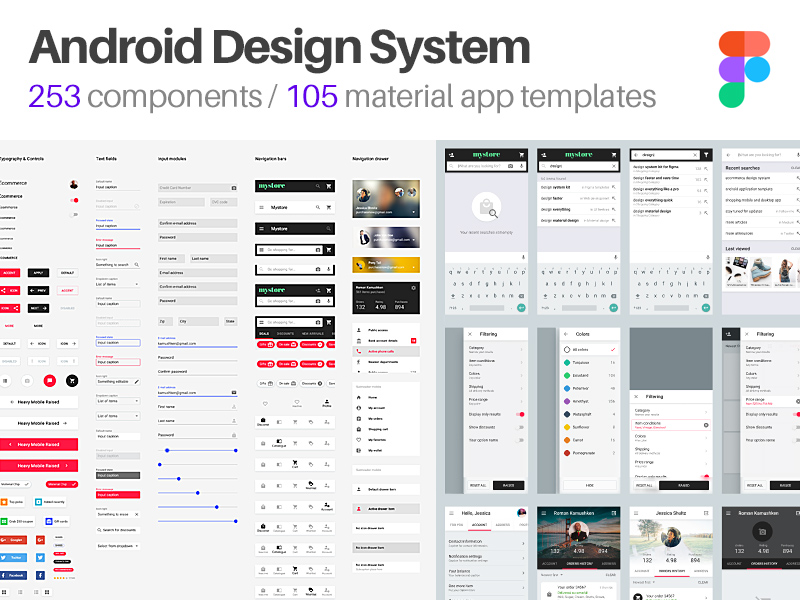 android ui design templates for figma freebie supply