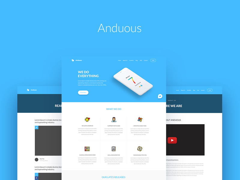 Anduous - PSD Website Templates - Freebie Supply