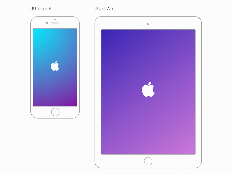 apple ipad air and iphone 6 mockups made in sketch - Ipad And Iphone Mockup