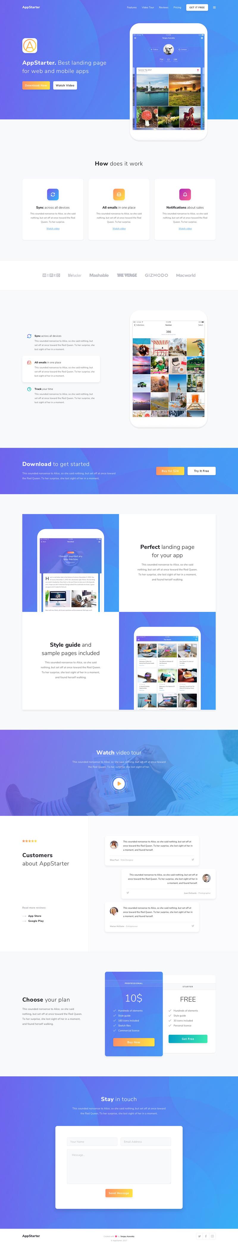 Appstarter Website Template Free Psd Freebie Supply
