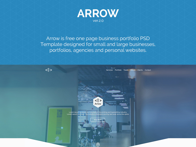Arrow one page business portfolio template freebie supply arrow one page business portfolio template wajeb Choice Image