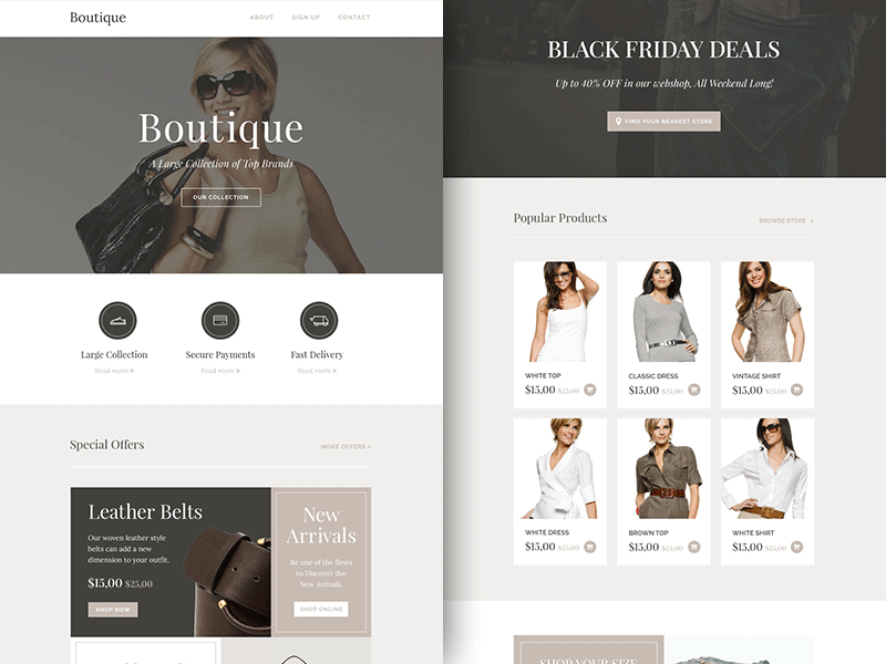 Boutique: Responsive Html Email Newsletter Template - Sketch ...