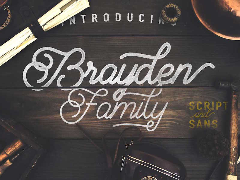 Brayden free vintage font family freebie supply
