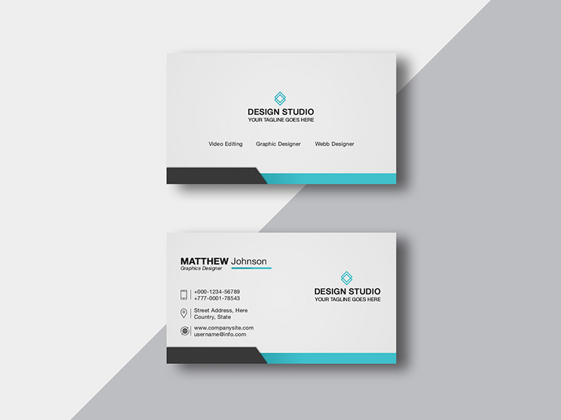 Business Card Design Templates - Free PSD - Freebie Supply
