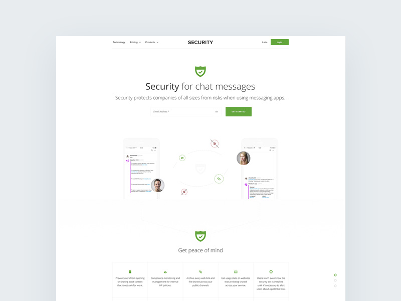 chat security template psd freebie freebie supply
