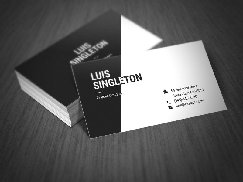 clean and minimal business card templates by horea nicodin freebie