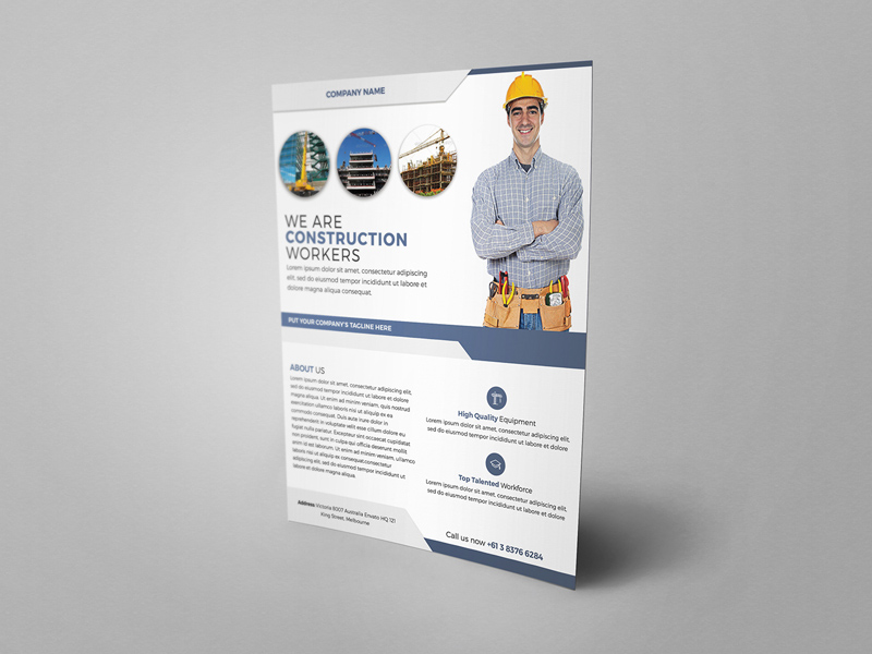 Construction Service Flyer Template Free Psd Freebie Supply
