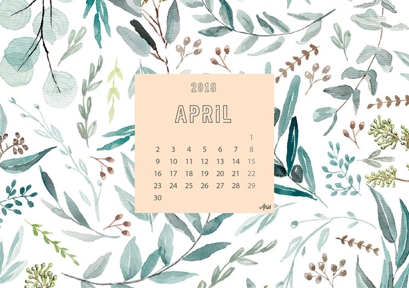 April Calendar Screensaver : Calendar freebie supply