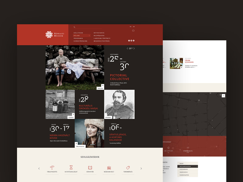 Entnography Museum Redesign PSD