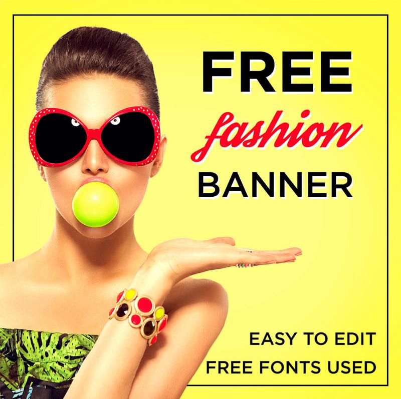 fashion banner templates freebie supply