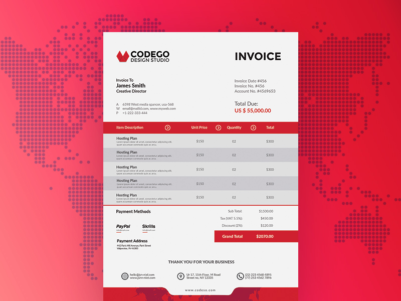 Free Invoice Template Freebie Supply - Free invoicing template