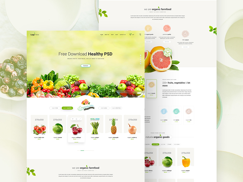 Healthy food website template free psd freebie supply healthy food website template free psd pronofoot35fo Choice Image