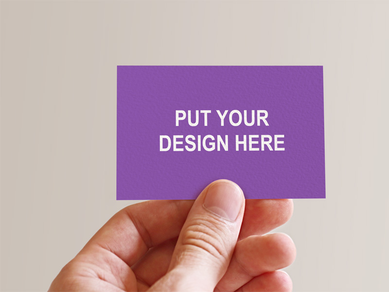 Holding Business Card In Hand by Yaniss Ghanem - Freebie Supply