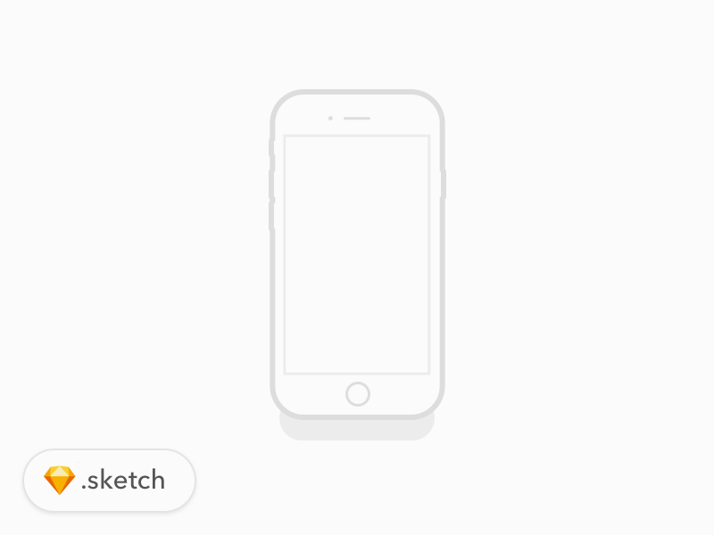 iPhone 7 Illustration for Sketch - Freebie Supply