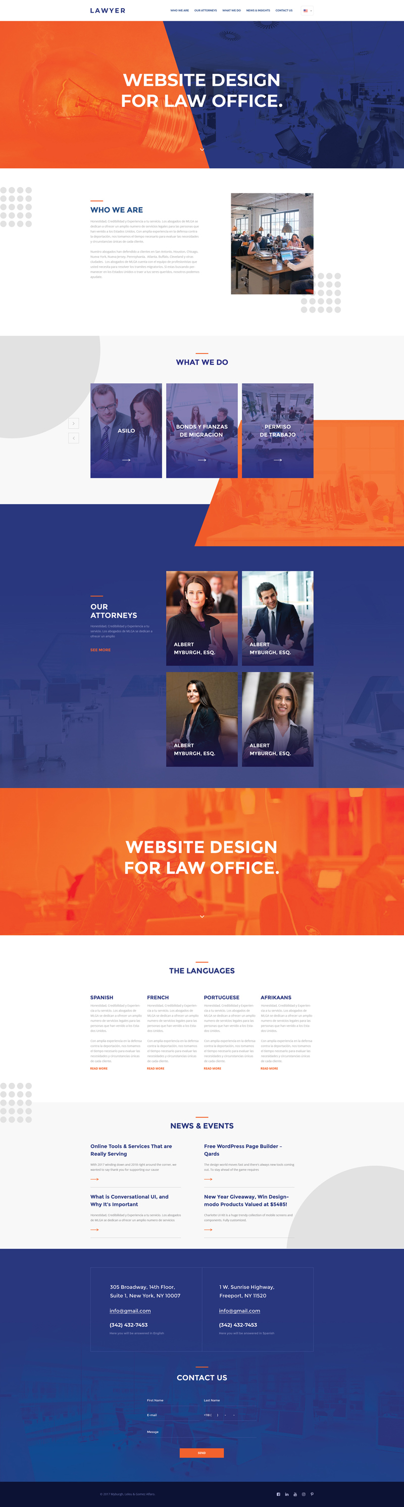 Lawyer Website Template PSD Freebie Supply - Lawyer website template