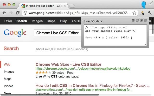 Live CSS Editor