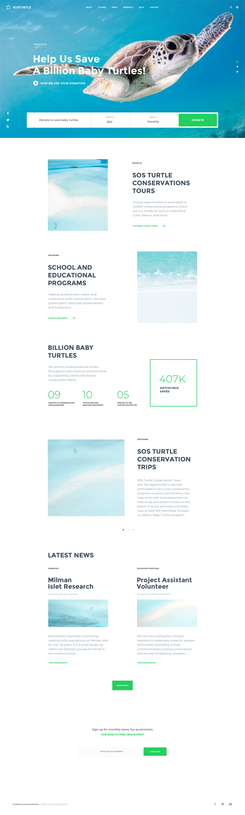 NGO Website Template for Sketch - Freebie Supply
