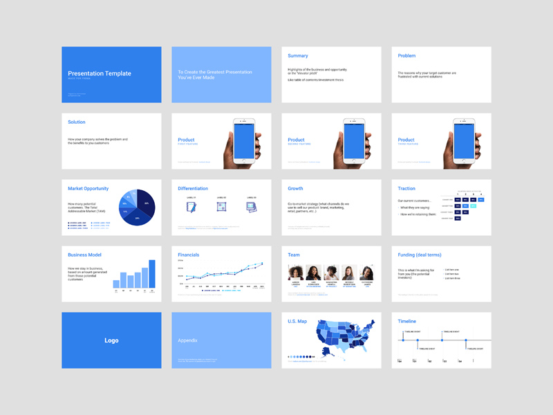 Investor Pitch Deck For Figma Freebie Supply - Vc deck template