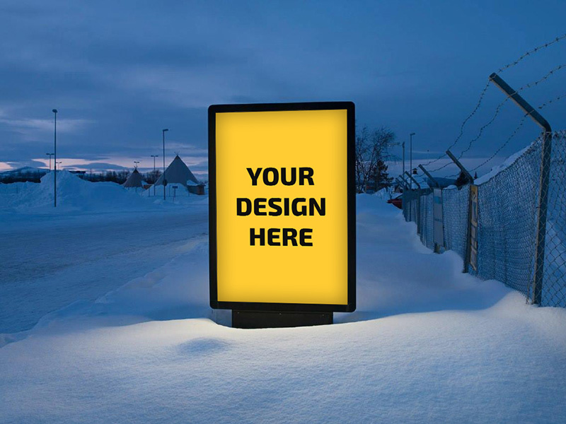 outdoor sign ad mockup free resource freebie supply