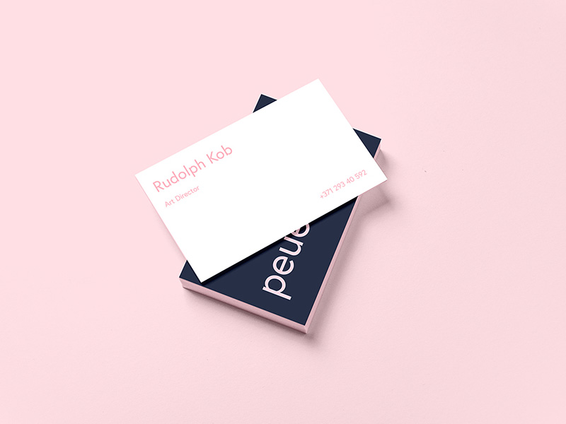 Peue Business Card Mockup Sample : Free PSD - Freebie Supply