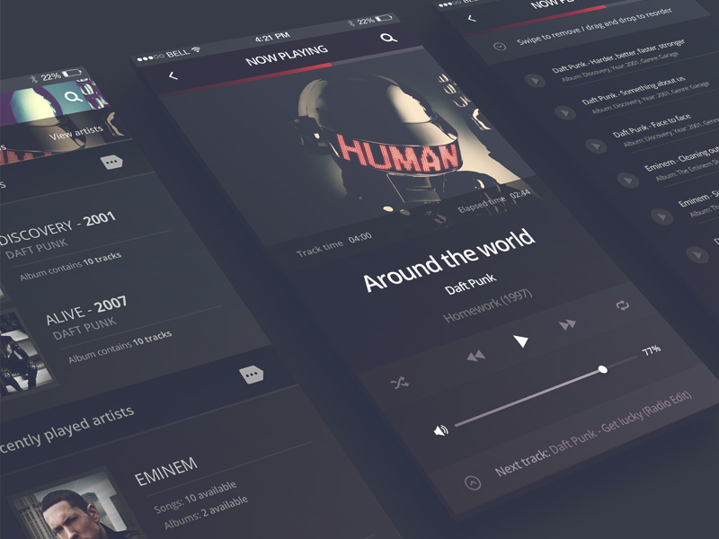cover letter for free%0A    Free Music UI Kits for Photoshop and Sketch