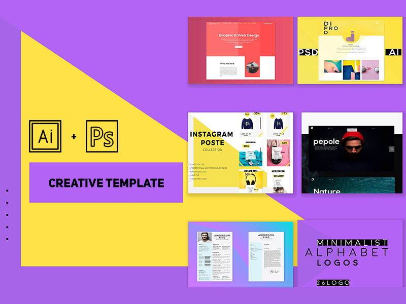 Portfolio Templates For Photoshop By Diprod Freebie Supply