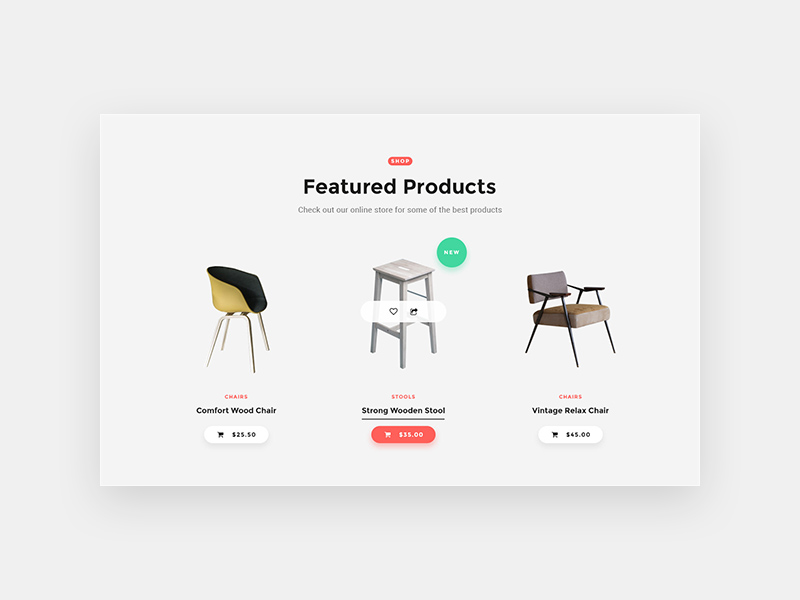 Products Display UI Design - Free PSD - Freebie Supply