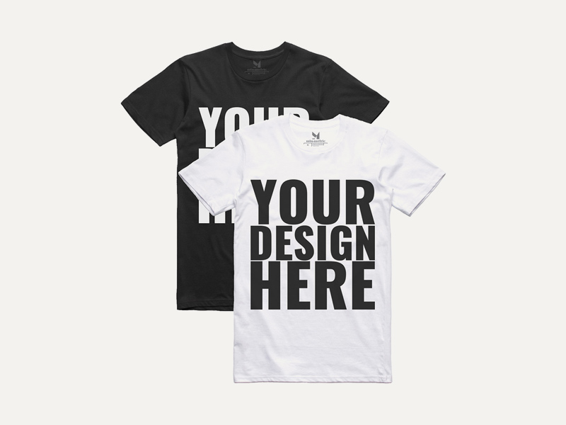 Realistic black white t shirt mockups freebie supply for White t shirt mockup