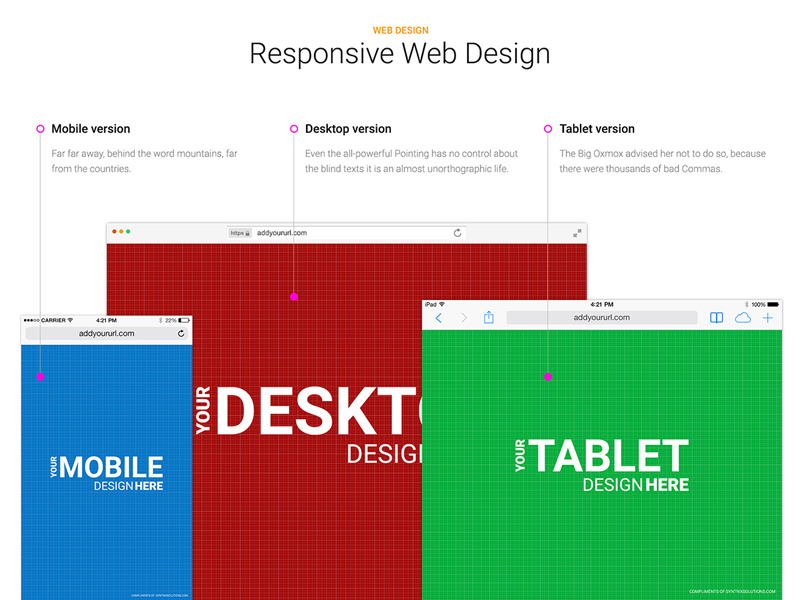 responsive browser mockup - free psd - freebie supply, Powerpoint templates